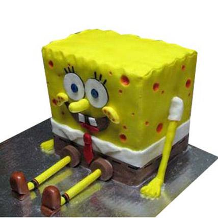 Cute Spongebob Cake 4kg Eggless