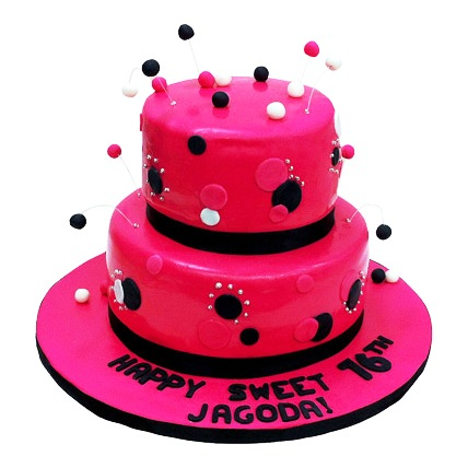 Dazzling Red Cake 4kg Eggless