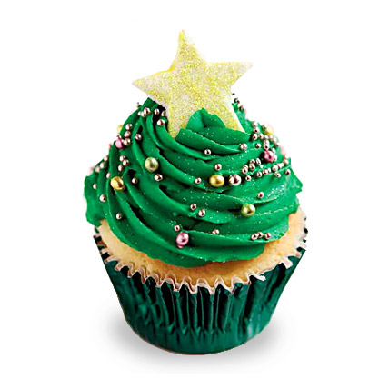 Decorative Christmas Tree Cupcakes 6