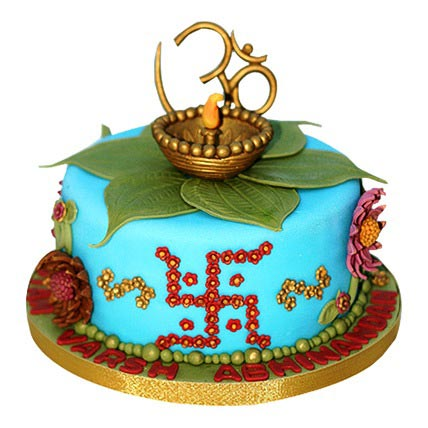 Decorative Diwali Cake 2kg Eggless