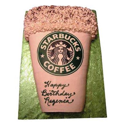 Designer Starbucks Cake 4kg Eggless