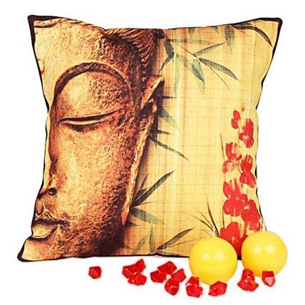 Divine Buddha Cushion with Candles
