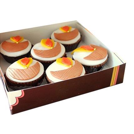 Diya Cupcakes 24 Eggless