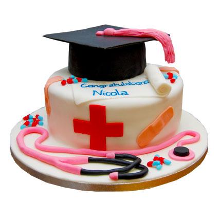 Doctors Graduation Cake 2kg Eggless