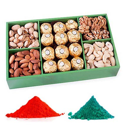 Dry Fruits with Chocolates and Colours