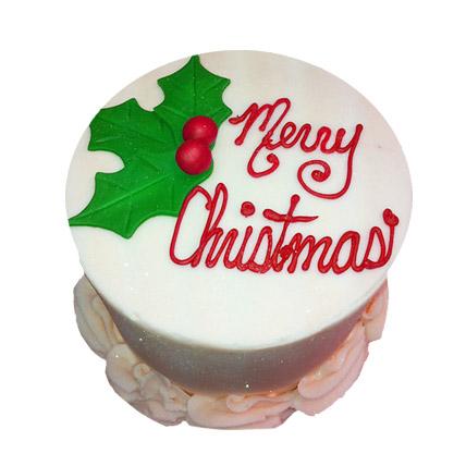 Elegant Christmas Cake 1kg Eggless
