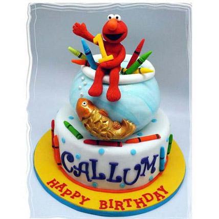 Elmo Goldfish Cake 5kg Eggless