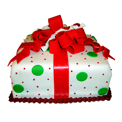 Exquisite Christmas Gift Cake 3kg Eggless