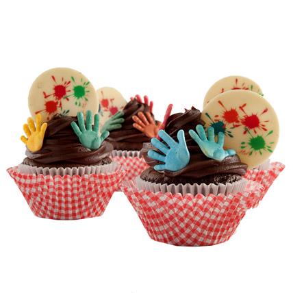 Exquisite Holi Cupcakes 24 Eggless