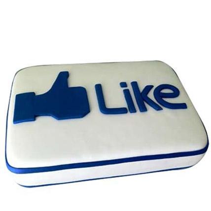 Facebook Customized Cake 3kg Eggless Chocolate