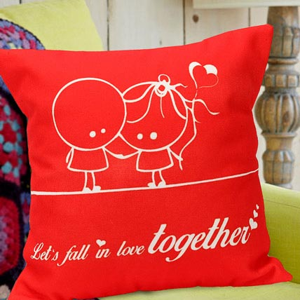 Fall In Love Red Cushion