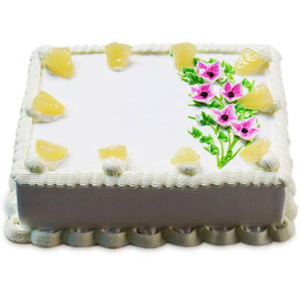 Fancy Pineapple Cake 2kg Eggless