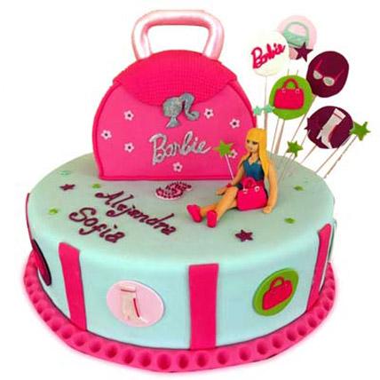 Fashionable Barbie Handbag 4kg Eggless