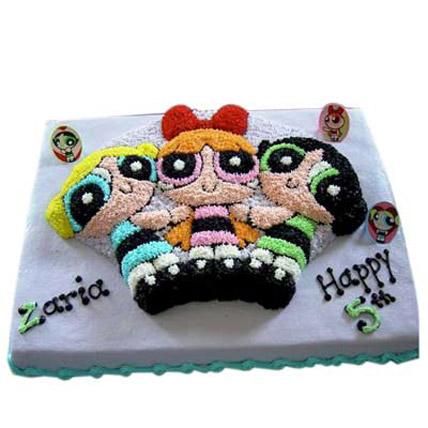 Flavorful Powerpuff Girls Cake 2kg Eggless