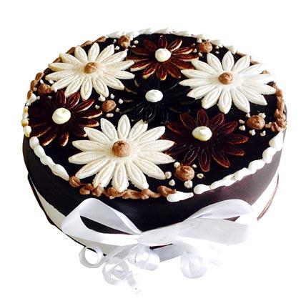 Floral Cake 2kg Eggless
