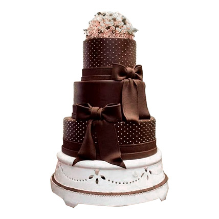 Floral Cascade Wedding Cake 10kg Eggless