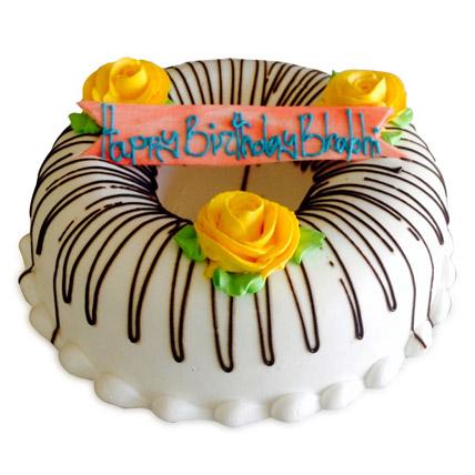 Floral Donut Cake 1kg Eggless