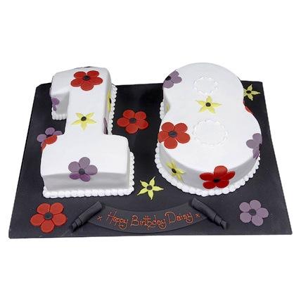 Flowery 18th Cake 2kg Eggless