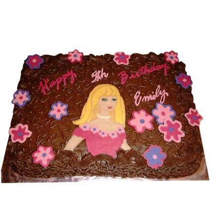 Flowery Barbie Cake 3kg Eggless
