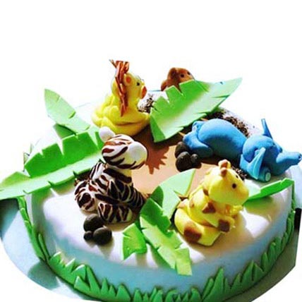 Fluffy Mix animal cake 2kg Eggless