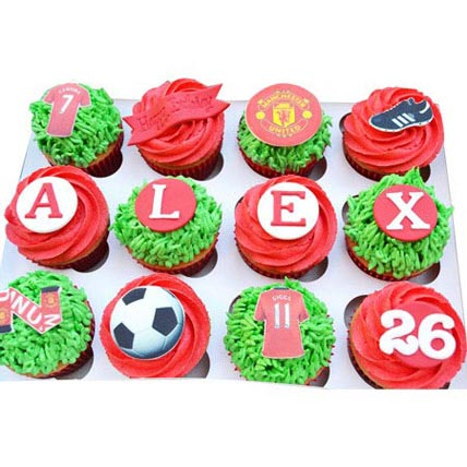 Football Special Cupcakes 12 Eggless