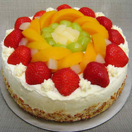 Fresh Fruit Gateau 1kg Eggless