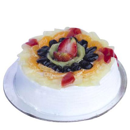 Fresh Fruit Gateau Cake 1kg Eggless