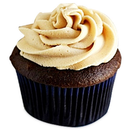 Frosted Peanut Butter Cupcakes 12 Eggless