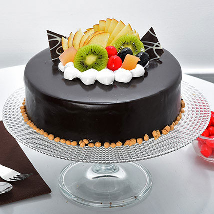 Fruit Chocolate Cake Half kg