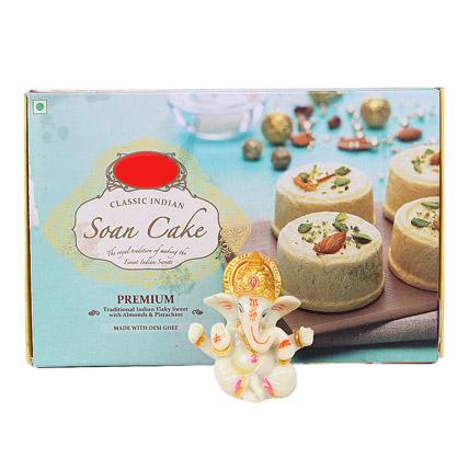 Ganesha Idol With Soan Cake