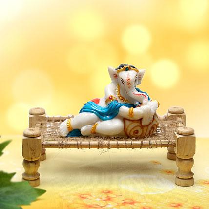 Ganesha Resting On Charpai