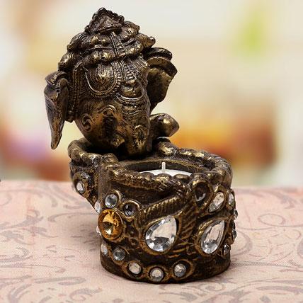 Ganesha Tea Light Holder