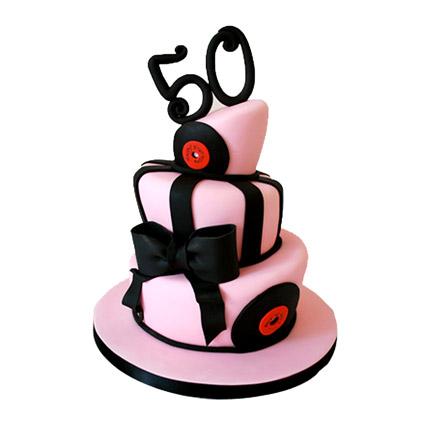 Glamorous Anniversary Cake 6kg Eggless