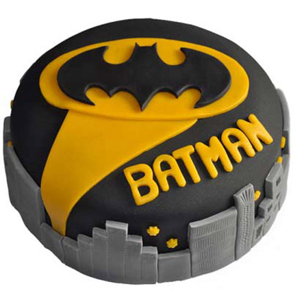 Glitzyy Batman City Cake 2kg Eggless