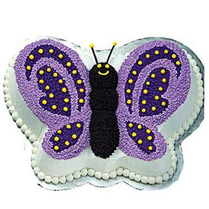 Glossy Butterfly Cake 4kg Eggless