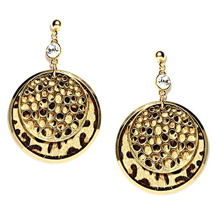 Golden Peacock Gold Plated Drop Earrings