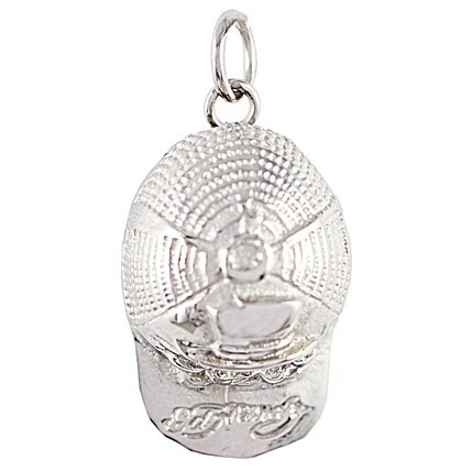 Golden Peacock Silver Plated Pendent
