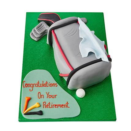 Golf Bag Fondant Cake
