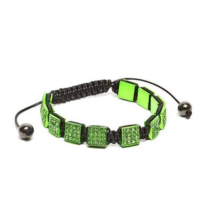 Green Aquamarine Cubic Bracelet