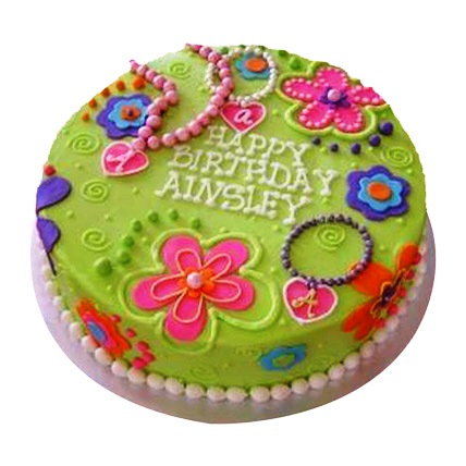 Green Girly Cake 2kg Eggless