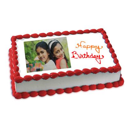 Happy Birthday Photo Cake 3kg Eggless