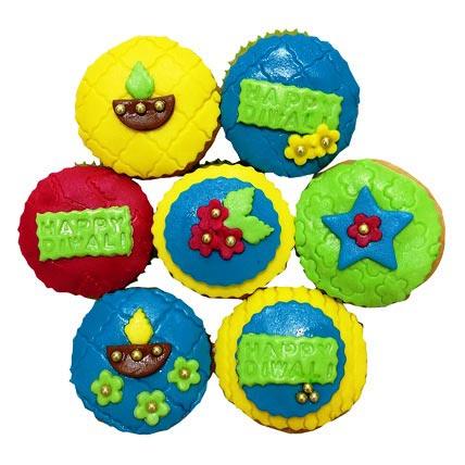 Happy Deepavali Cupcakes 6