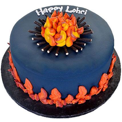 Happy Lohri Chocolate Cake 1kg