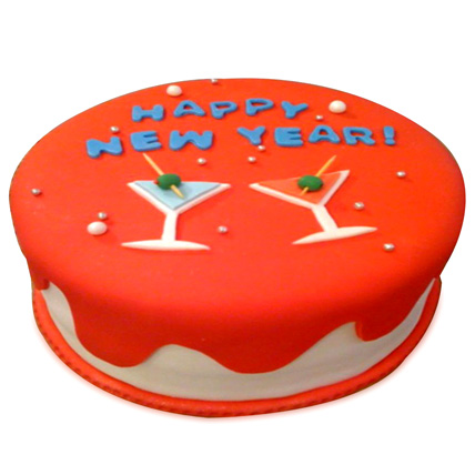 Happy New Year Cake 3kg Eggless