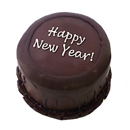 Happy New Year Chocolate Cake 1kg