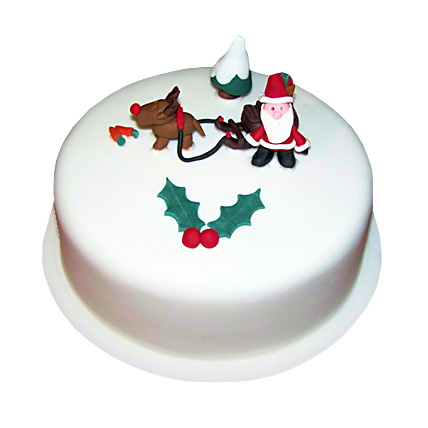 Happy Santa Christmas Cake 2kg Eggless