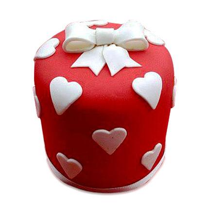 Heart Gift Cake 4kg Eggless