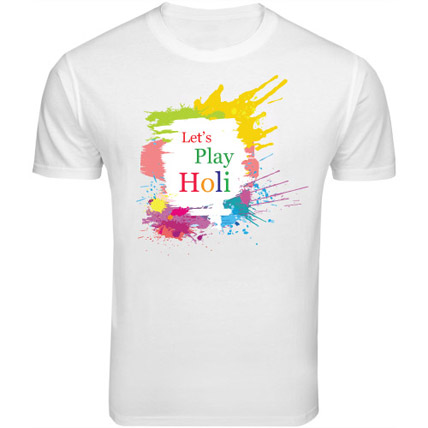 Holi Special T Shirt Small