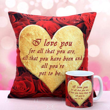I Love You Cushion n Mug
