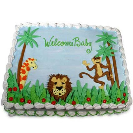 Jungle Theme Cake 4kg Eggless